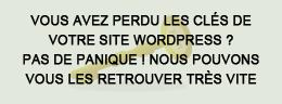 recupérer compte admin wordpress