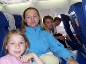 Dans l\'avion pour Tokyo...