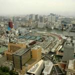 La baie de Tokyo depuis le dernier étage de l\'immeuble Dentsu