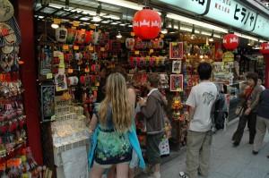 Choix de lanternes au bazar d\'Asakusa