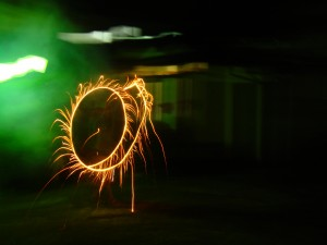 Mini feu d\'artifice pour l\'anniversaire de Madolia
