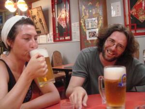Les bières géantes du resto chinois de Nagasaki (Japon)