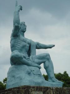 La statue du parc de la paix à Nagasaki (Japon)
