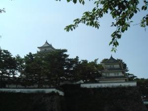 Le donjon médiéval du château de Shimabara (Kyushu, Japon)