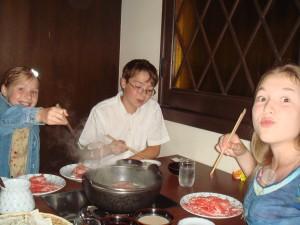 Shabu-shabu au restaurant Shabutei à Nara au Japon