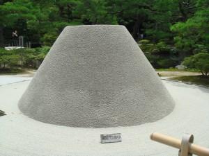 Pate de sable au temple Ginkakuji, Kyoto, Japon