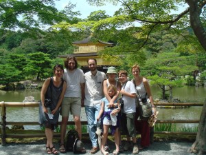 Devant le Kinkakuji a Kyoto, Japon