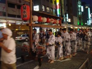 Mini-matsuri sur Kawaramachi-dori, Kyoto, Japon
