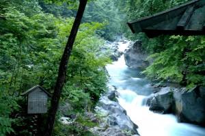 La rivière Daiya à Nikko au Japon