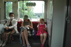 A l\'intérieur du train pour Nikko