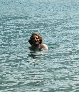 Yann : baignade dans le lac de Chuzenji à Nikko au Japon