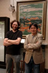 Yann et Madoro dans la maison des Hosokawa à Tokyo