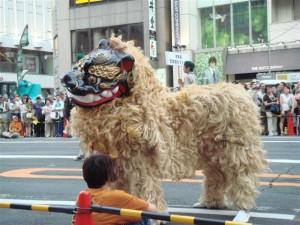 Dragon de Okinawa au Ueno natsu matsuri, Tokyo, Japon