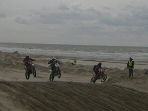 Berck Beach Crossing 2008 - motards sur la plage