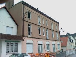 Berck : Le 126 rue Rohtschild après l\'incendie du 4 octobre 2008