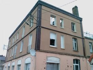 Le 126 rue Rohtschild à Berck après l\'incendie