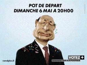 Affiche Guignols Canal+ Chirac \