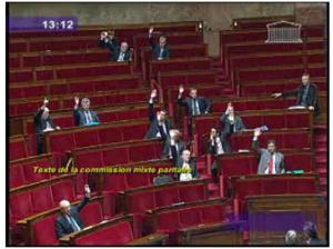 Vote pour la loi Hadopi à l'Assemblée Nationale le 9 avril 2009
