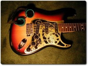 Clockwork Steampunk Stratocaster par Steampunk Workshop