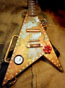 Steampunk Flying V par Ellie Guitars