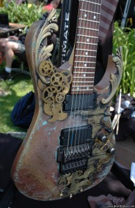 Abney Park\'s Steampunk Guitar (courtesy Brettdaniel.com)