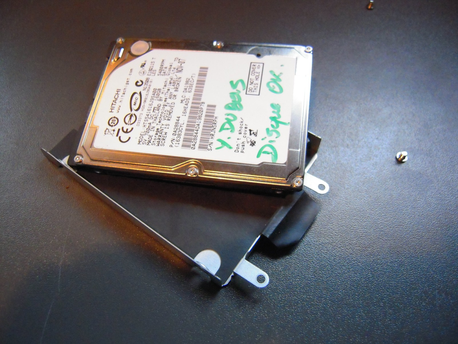 Taking apart a Sony VAIO to replace the hard disk drive | Yann