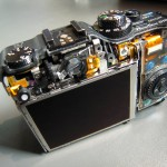 Powershot with back shell removed