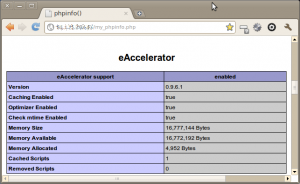 Capture-phpinfo() eAccelertor 1 - Chromium